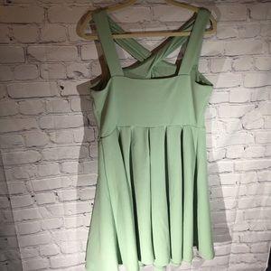 torrid Dresses - Torrid sage green crisscross front dress. Sz 1